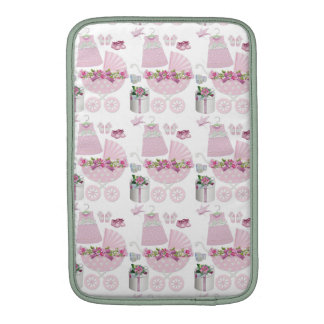 Pink Vintage Its A Girl Sleeve For MacBook Air