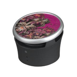 Pink Vintage Oil Brush Painting Speaker