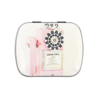 Pink Vintage Payphone Candy Tin