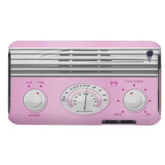 Pink Vintage Radio iPod Case-Mate Cases