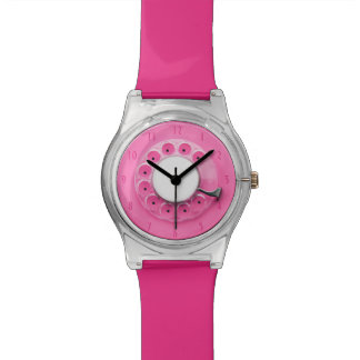 Pink Vintage Retro Rotary Dial Concept Watch