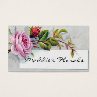 Pink Vintage Rose Business Card