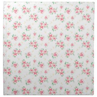 Pink vintage rose napkin