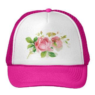 Pink vintage roses cap