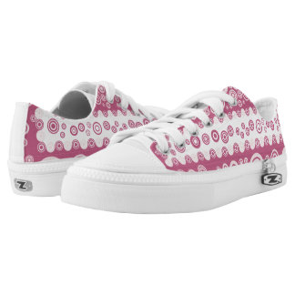 pink vintage shoes printed shoes