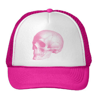 Pink Vintage Skull Cap