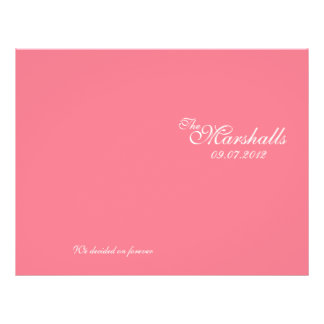 Pink Vintage Wedding Ceremony Program Personalized Flyer