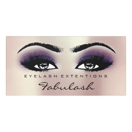 Pink Violet Glitter Gold Beauty Salon Lash Makeup Door Sign