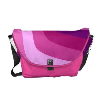 Pink Violet Wave Courier Bag