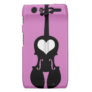 Pink Violin Cell Phone Cases Droid RAZR Cases