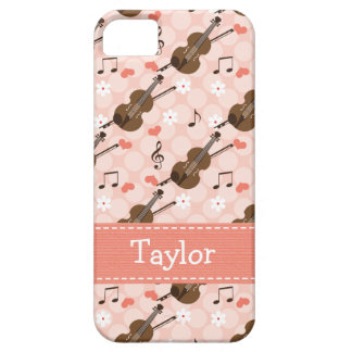 Pink Violin iPhone 5 Covers