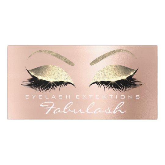 Pink VIP Glitter Gold Beauty Salon Lashes Makeup