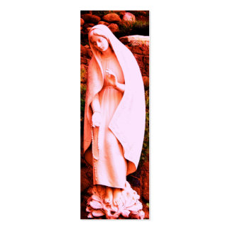 Pink Virgin Mary BOOKMARK Business Card Template