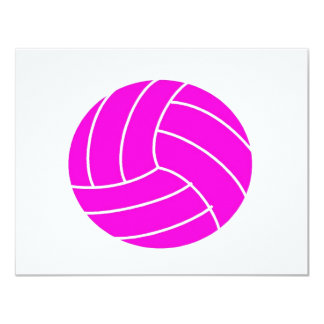 Pink Volleyball 11 Cm X 14 Cm Invitation Card