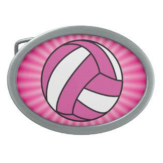 Pink Volleyball Belt Buckle