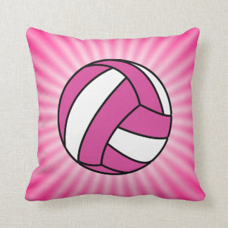 Pink Volleyball Cushion