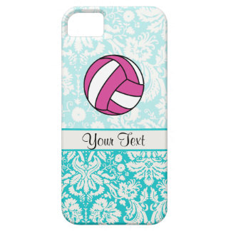 Pink Volleyball; Damask Pattern Barely There iPhone 5 Case