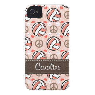 Pink Volleyball iPhone 4 Case Mate Covers