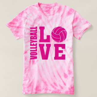 Pink Volleyball Love, Volleyball T-Shirt