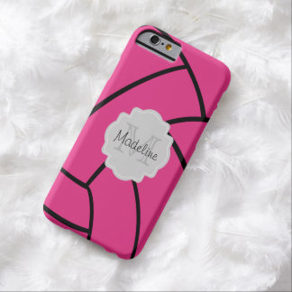 Pink Volleyball Monogram iPhone Case