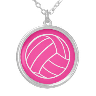 Pink Volleyball Necklace