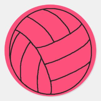 Pink Volleyball Sticker