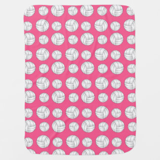 Pink volleyballs pattern baby blanket