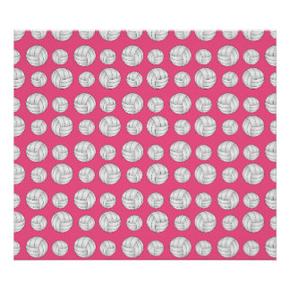 Pink volleyballs pattern poster