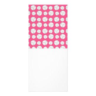 Pink volleyballs pattern rack card design