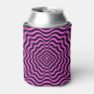 Pink Vortex Can Cooler