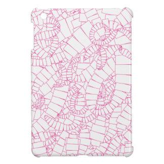 Pink Vortex of Rectangles iPad Mini Covers