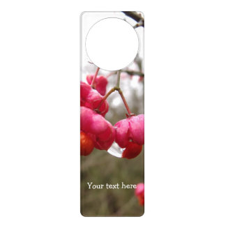 Pink Wahoo Berries Door Hanger