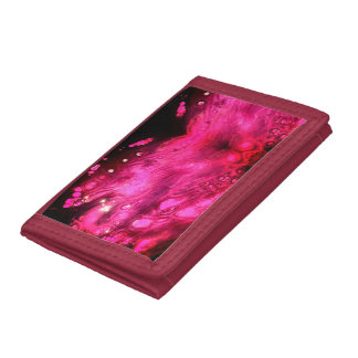 Pink wallet with beautiful abstract design