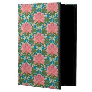 Pink Water Lilies, Dragonflies iPad Air Powis Case
