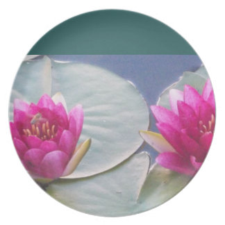 Pink Water Lillies Plate