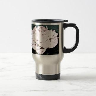 pink water lilly coffee mug
