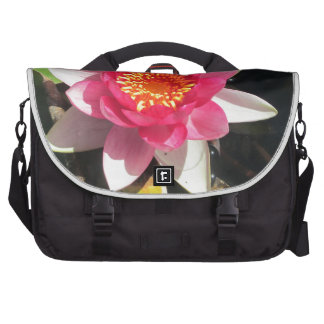 Pink water Lilly photograph Commuter Bag