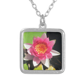 Pink water Lilly photograph Custom Jewelry
