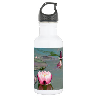 Pink water lily 532 ml water bottle
