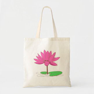 Pink Water Lily Budget Tote Bag