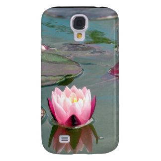 Pink water lily galaxy s4 covers