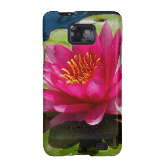 Pink Water Lily Galaxy SII Case