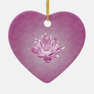 Pink Water Lily Christmas Ornament