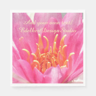 Pink Water Lily Close Up Paper Napkins