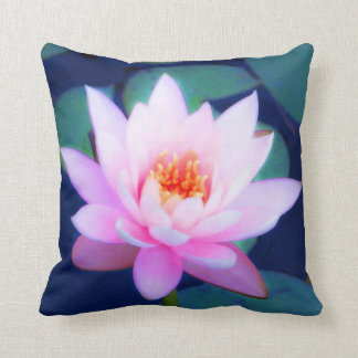 Pink water lily cushion