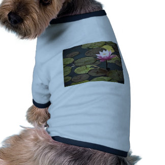 Pink Water Lily Drawing Pet Tshirt