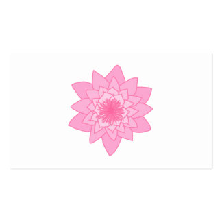 Pink Water Lily Flower. Business Cards