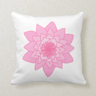 Pink Water Lily Flower. Cushion