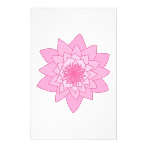Pink Water Lily Flower. Flyer Design
