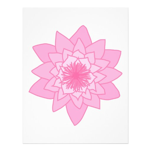 Pink Water Lily Flower. Personalized Flyer